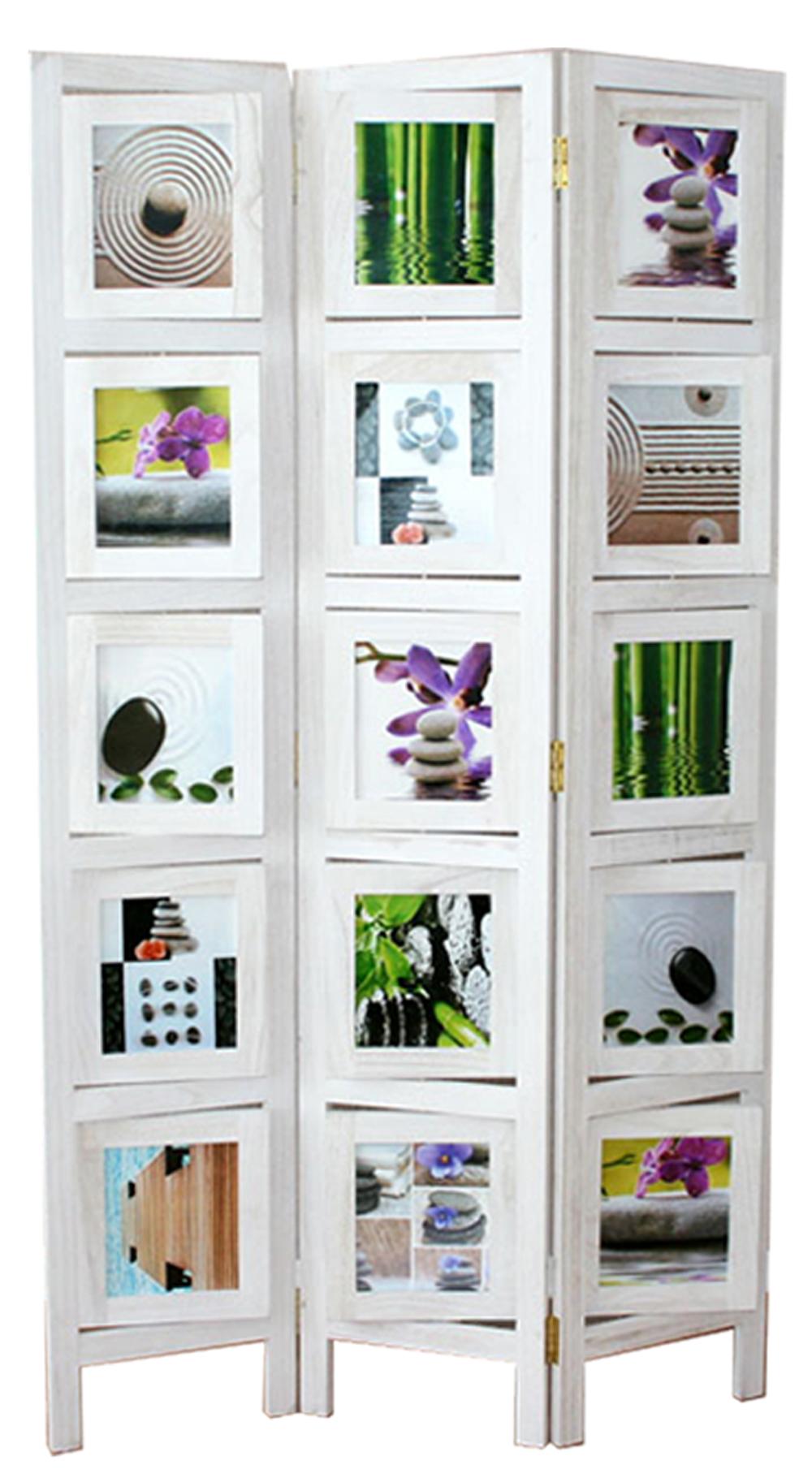 paravent bois blanc porte photos 3 pans. Black Bedroom Furniture Sets. Home Design Ideas