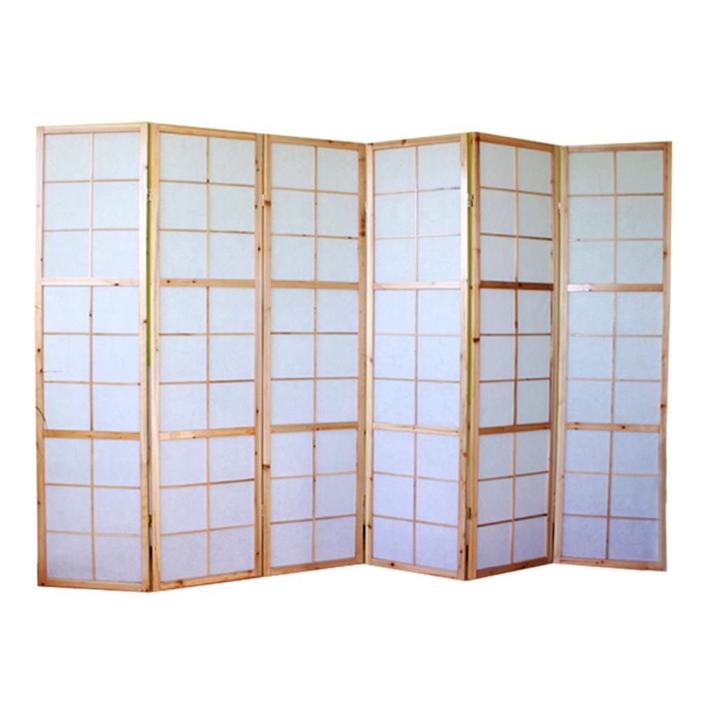 paravent japonais bois naturel 6 pans. Black Bedroom Furniture Sets. Home Design Ideas